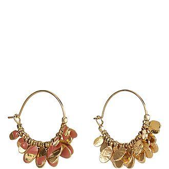 Isabel' Charm Hoop Earrings