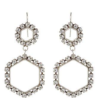 Here It Is Crystal Drop Earrings