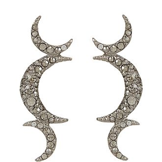 Full Moon Embellished Stud Earrings