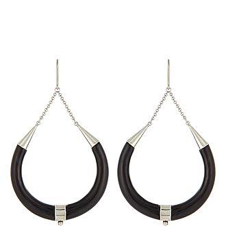 Long Horn Earrings