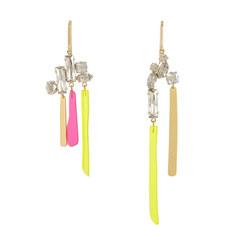 Stone Cluster Drop Earrings