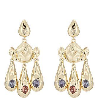 Crumpled Chandelier Earrings