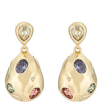 Stone Studded Drop Earrings