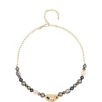 Crumpled Beaded Necklace