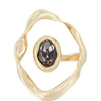 Crumpled Orbit Stone Ring