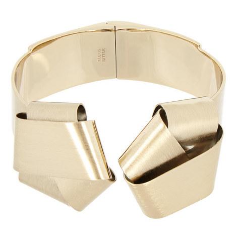 Folded Knot Hinge Bracelet, ${color}