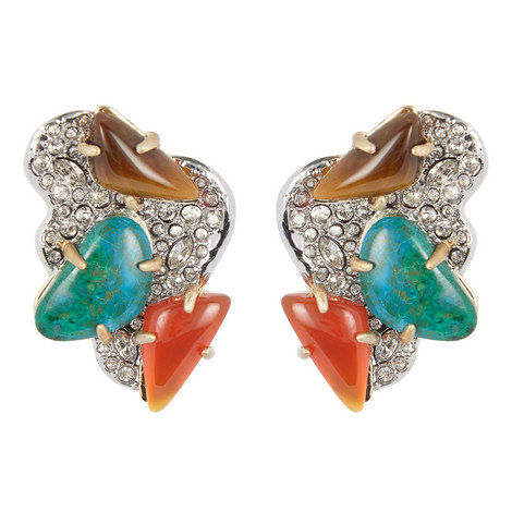 Roxbury Cluster Clip Earrings , ${color}