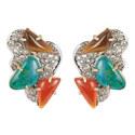 Roxbury Cluster Clip Earrings, ${color}
