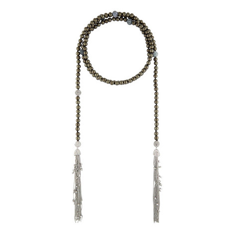 Crystal Encrusted Pearl Necklace, ${color}