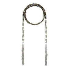 Crystal Encrusted Pearl Necklace