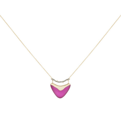 Shield Pendant Necklace, ${color}