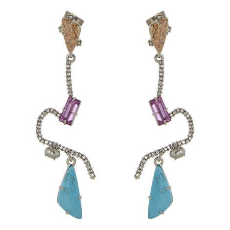 Crystal Maze Earrings, ${color}