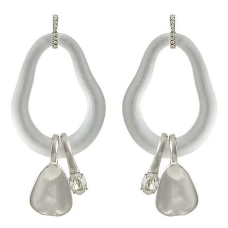 Crystal Link Earrings, ${color}