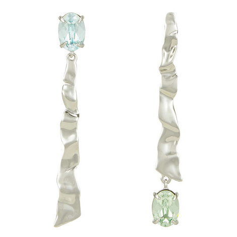 Crumbled Mismatch Linear Earrings, ${color}