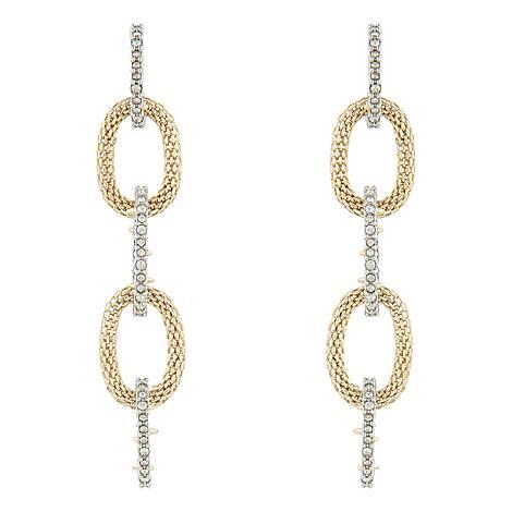 Mesh Link Earrings, ${color}
