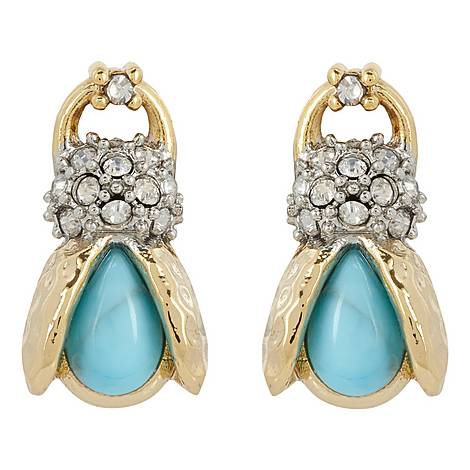 Scarab Stud Earrings, ${color}