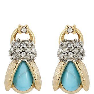Scarab Stud Earrings