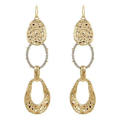 Hammered Hinge Earrings, ${color}