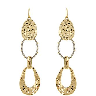 Hammered Hinge Earrings