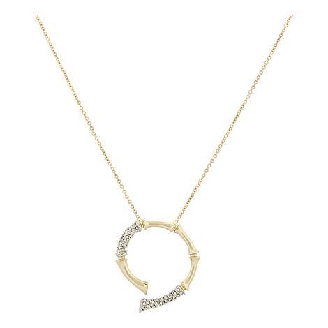 Crystal Bamboo Horseshoe Pendant, ${color}