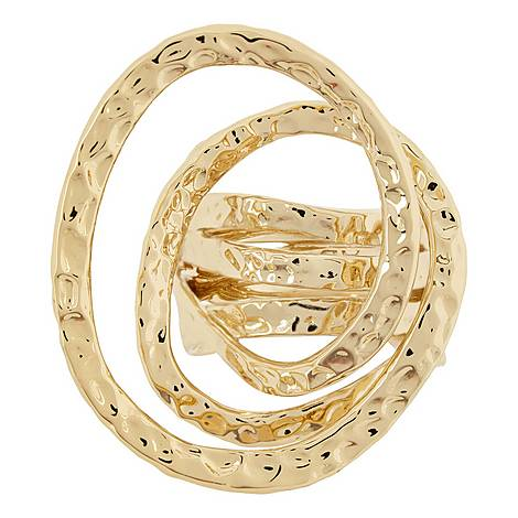 Hammered Coil Ring, ${color}