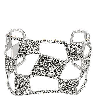 Pave Check Cuff Bracelet
