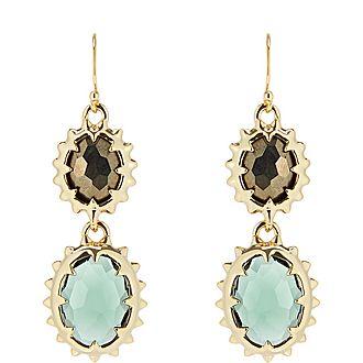 Double George Stone Earrings