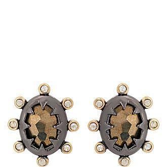 Georgian Stone Stud Earrings