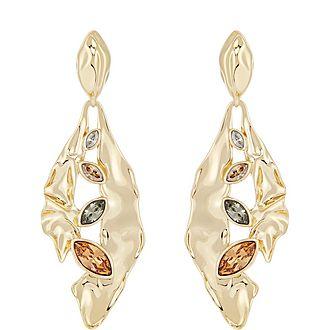 Crumpled Drop Earrings