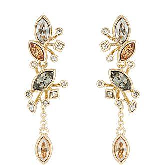 Navette Crystal Cluster Earrings