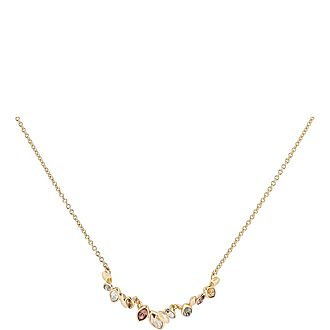 Navette Crystal Row Necklace