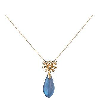 Crystal Burst Pendant Necklace