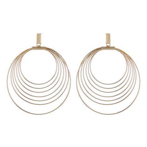 Hoop Drop Earrings, ${color}