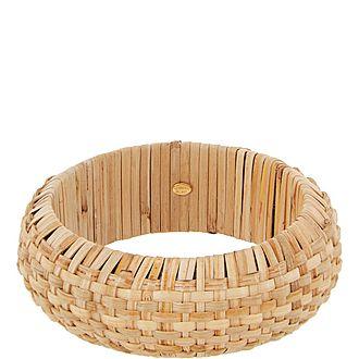 Rattan Bangle Bracelet