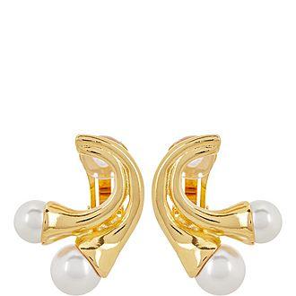 Clip-On Faux Pearl Earrings