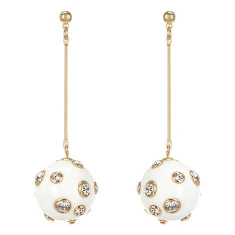Crystal Bead Drop Earrings, ${color}