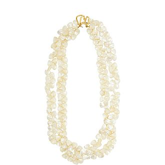 Triple Chain Shell Necklace