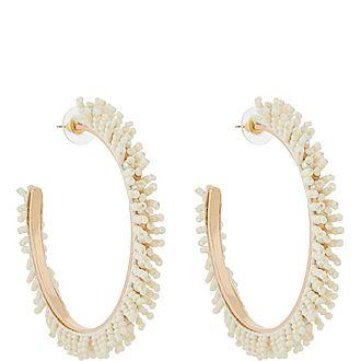 Ivory Seed Hoop Earrings