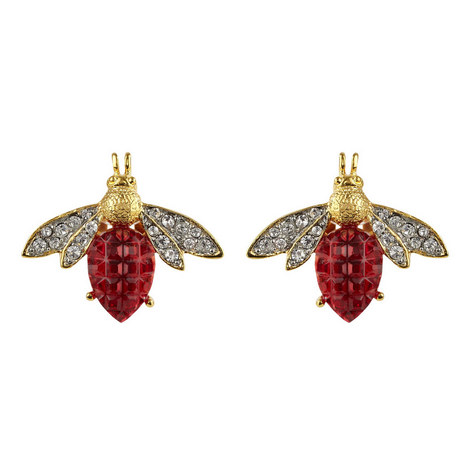Clip-On Bee Earrings, ${color}