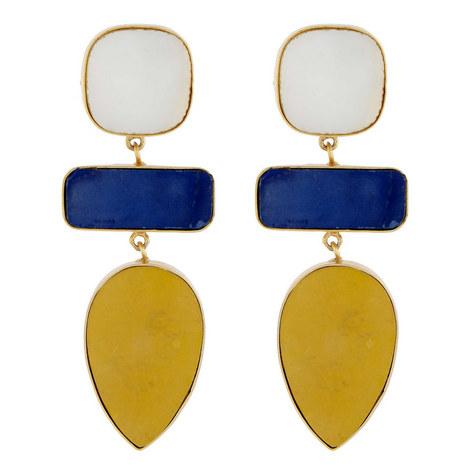 Mop Lapis Drop Earrings, ${color}