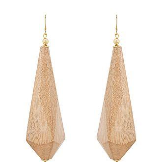 Wood Pendant Earrings