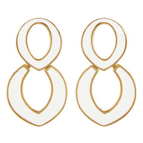 Oval Drop Earrings, ${color}