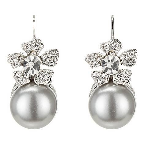 Crystal Grey Pearl Earrings, ${color}