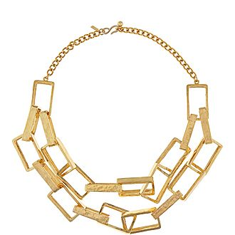 Rectangle Link Necklace