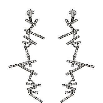 Crystal Zig Zag Crystal Earrings