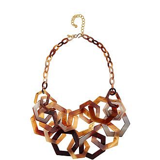Hexagon Chain Link Necklace