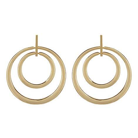 Double Hoop Drop Earrings , ${color}