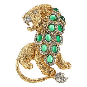 Crystal Lion Pin