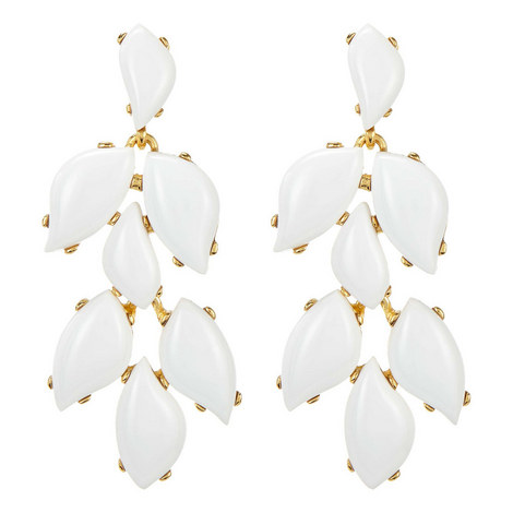 Stone Drop Clip-On Earrings, ${color}