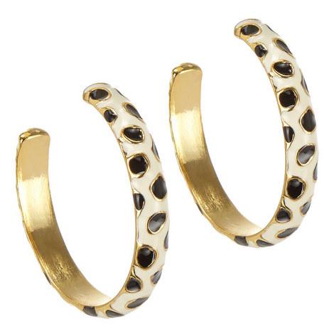 Leopard Print Hoop Earrings, ${color}